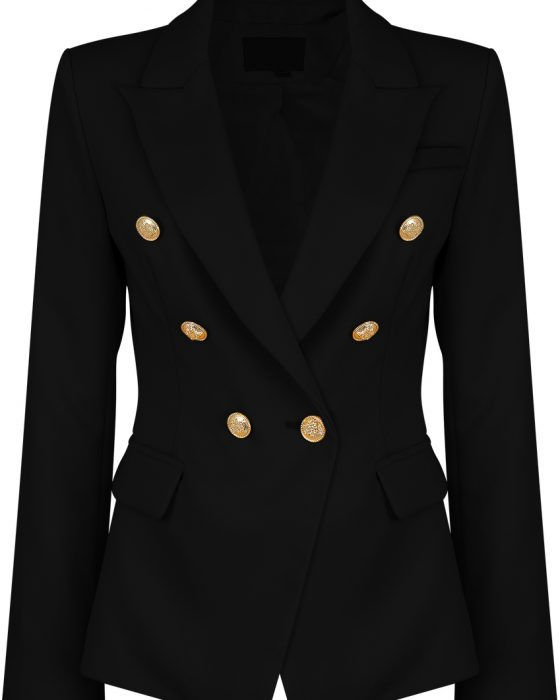 Black Balmain inspired blazer