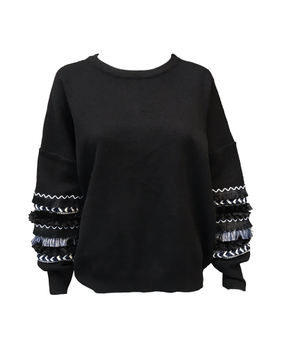 Black-jumper-with-detailed-sleeves