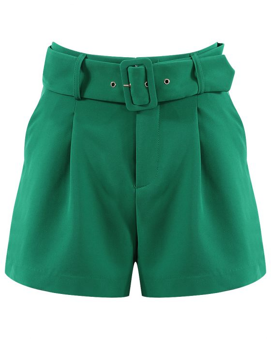 Green Tailored Shorts
