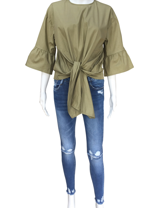 khaki_tie_front_frill_sleeve_top.png